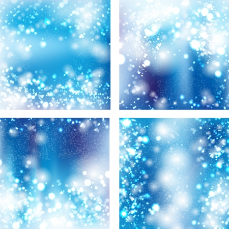 Set of bokeh light background Vector