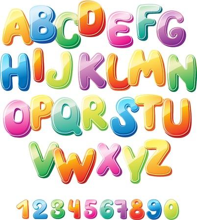 Alphabet et les chiffres Banque d'images - 16976018