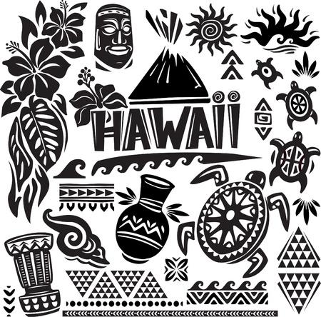 하와이 설정 일러스트