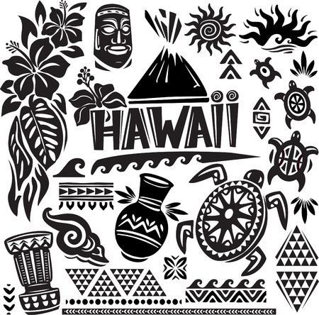 Hawaii Set Stock Vector - 17833831