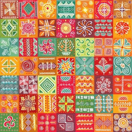Seamless tribal texture Stock Illustratie