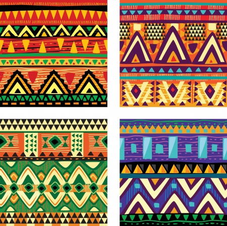 tribales: Seamless textura tribal Vectores