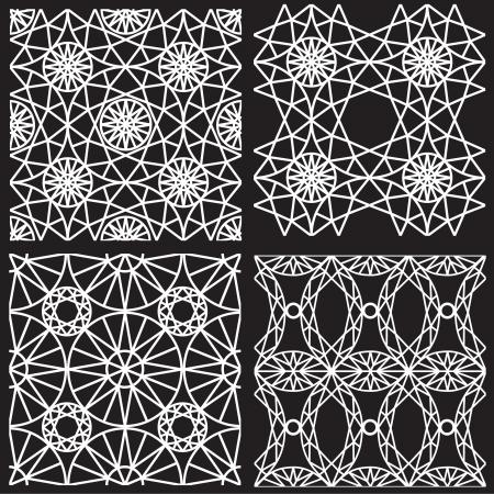 ダイヤモンド切削からシームレスな白いパターン  イラスト・ベクター素材