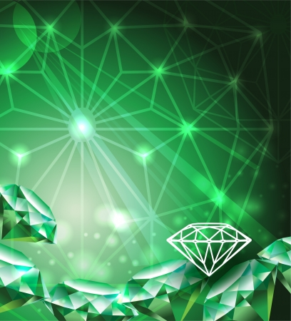 Background with emerald