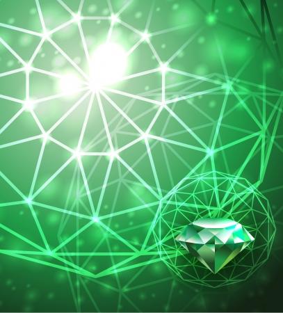 emerald gemstone: Background with emerald