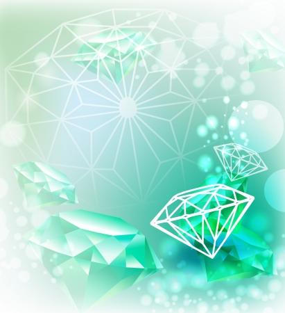 flyer layout: Background with gemstone