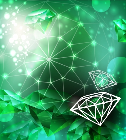 Background with texture gemstone Vector