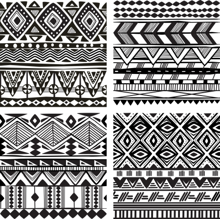 tribales: Seamless textura tribal Vectores