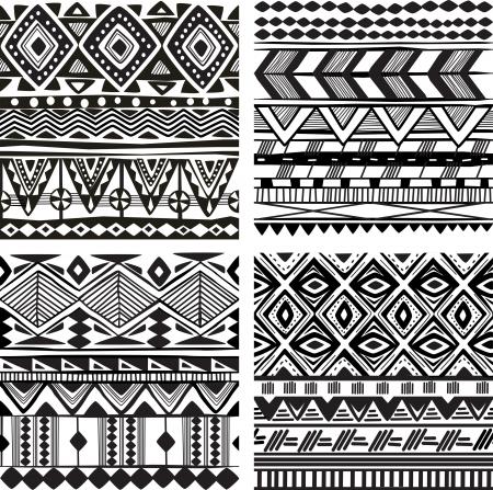 tribal: Texture tribale transparente