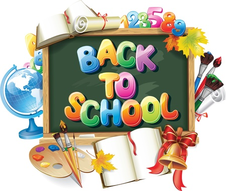 school frame: Back to school background