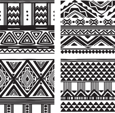 Set of tribal texture Vector
