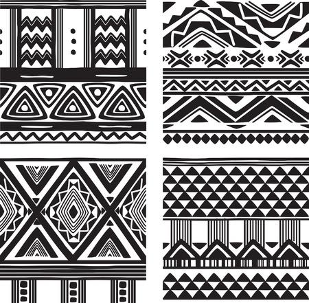 Set van tribal textuur