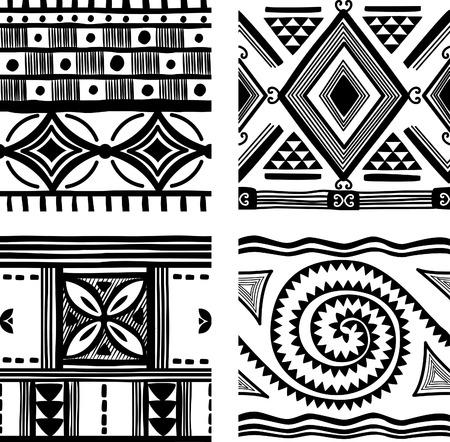 african fashion: Seamless tribal texture Illustration