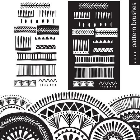 ink drops: Pattern brushes Illustration