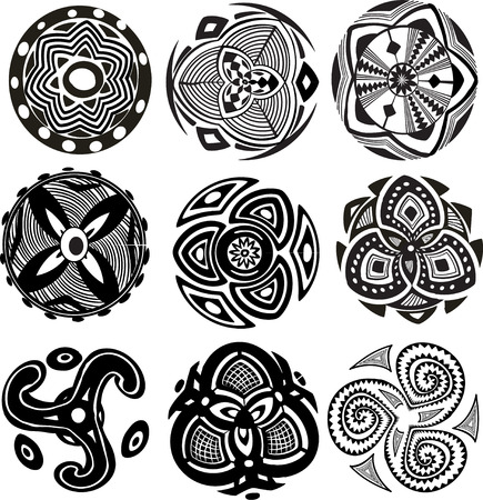 traditional tattoo:  Round Ornament Pattern