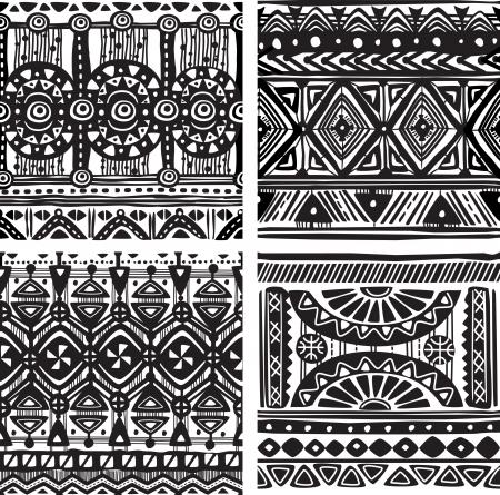 Seamless tribal texture Vettoriali