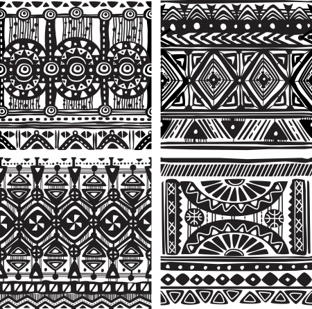 Seamless tribal texture Иллюстрация