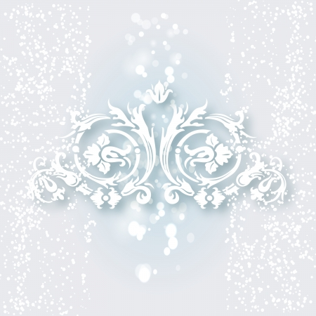 White ornament for design Stock Vector - 24228492