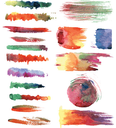 Colorful watercolor vector brushs Vector