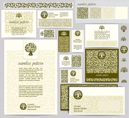 Identity template with leaf seamless pattern Vector