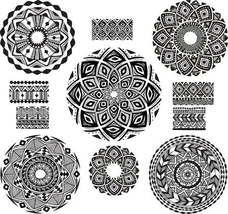生意気なパターンを持つ円形の装飾パターン