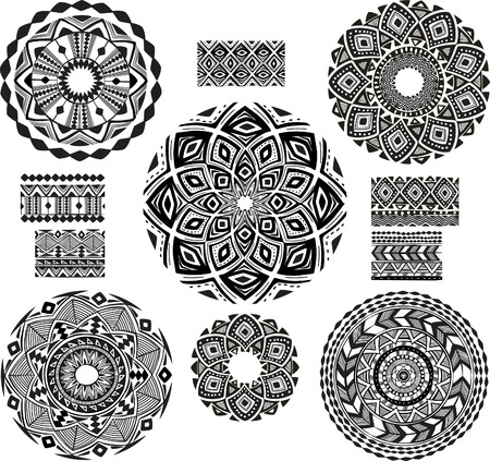 henna pattern: Round Ornament Pattern with pattern brash