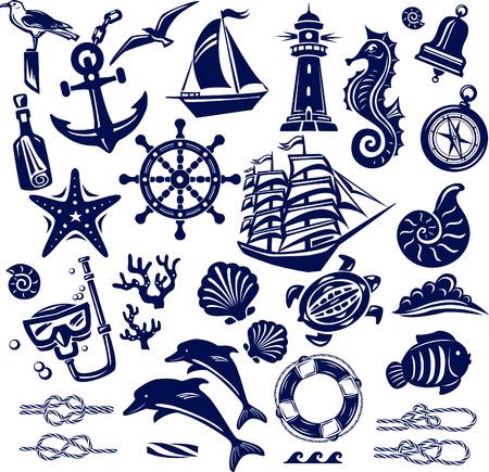 horsefish: Iconos mar verano