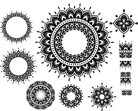 circulaire: Motif Ornement rond avec motif sarrasins