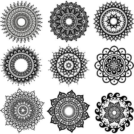 Round Ornament Pattern  Vettoriali