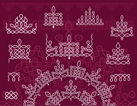 Pattern brash Rangoli Vector