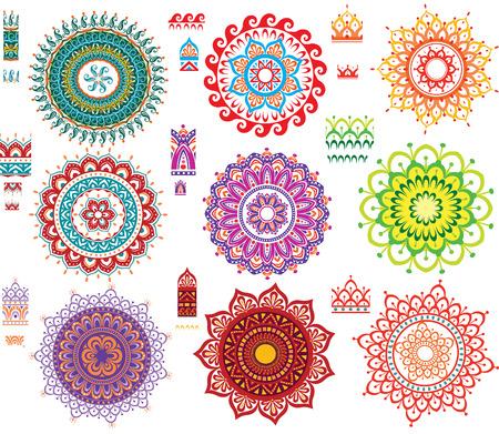 geometricos: Patrón de ornamento redondo con desparpajo Patrón Vectores