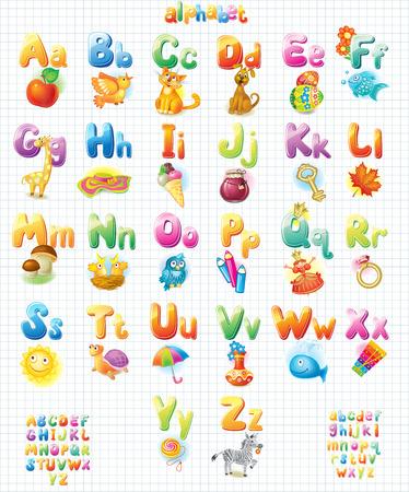 Grappige Alphabet met foto's voor kinderen