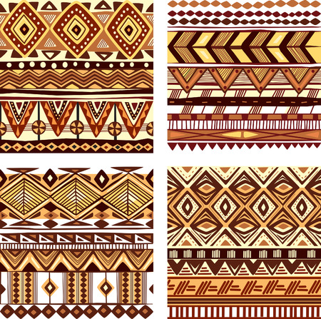 african fabric: Color seamless tribal texture Illustration