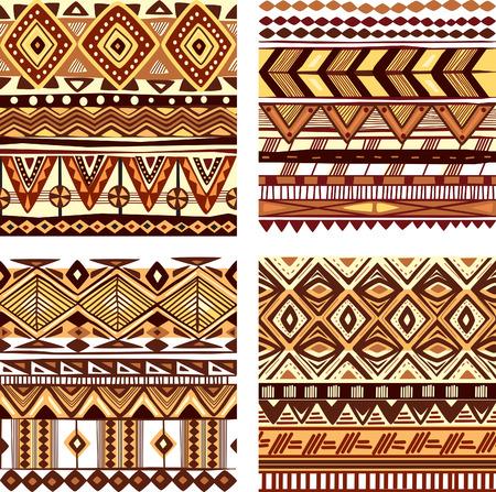 ethno: Color seamless tribal texture Illustration
