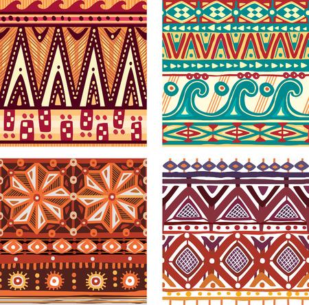 rhomb: Color seamless tribal texture Illustration