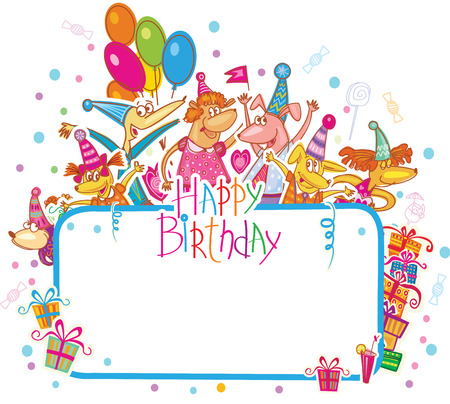 Template For Happy Birthday Card With Place For Text Royalty Free
