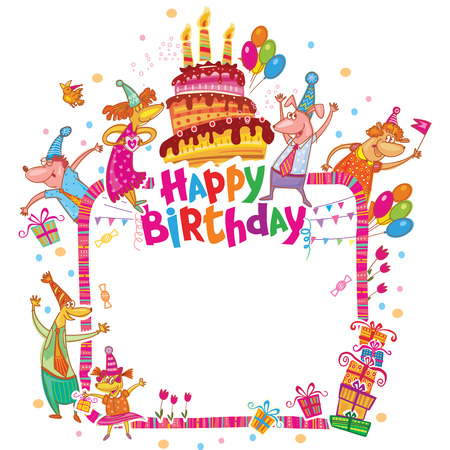 your text: Happy birthday card with place for your text