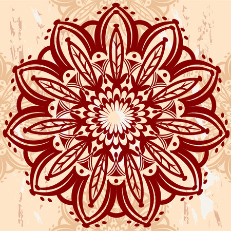 flower decoration: Mandala Round Ornament
