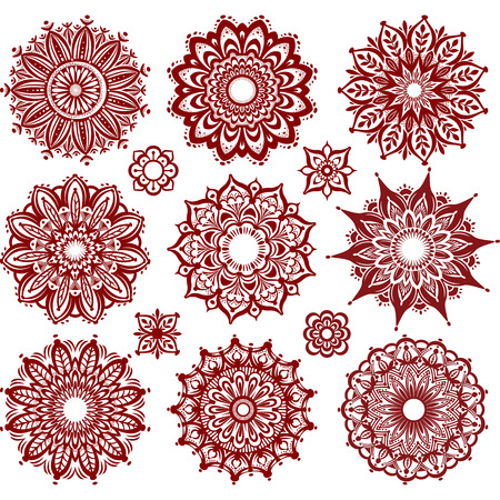 Set of Round Ornament Patterns Stok Fotoğraf - 41610732