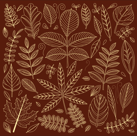 stylize: Background of outline leaves