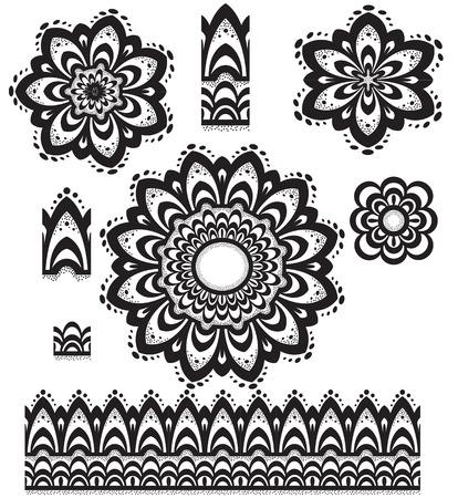 maleza: Patrón de ornamento redondo con un cepillo de patrón