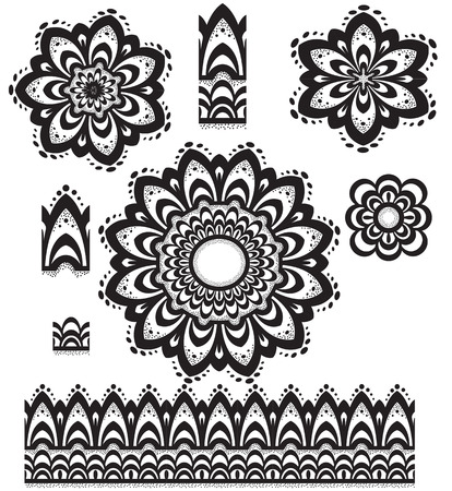 mandala tattoo: Round Ornament Pattern with pattern brush