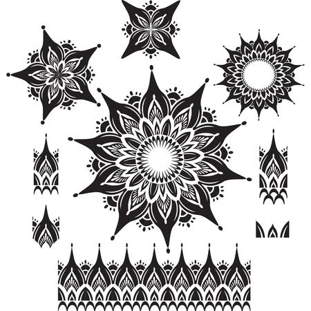 mehendi: Round Ornament Pattern with pattern brush