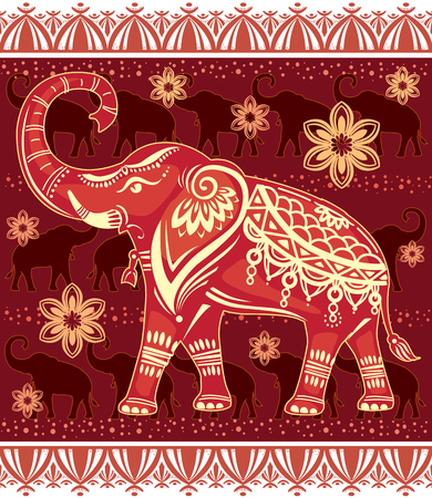 mendie: Decorated stylized elephant