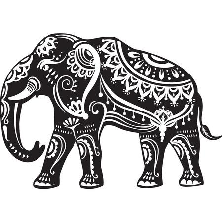 Decorado elefante estilizada