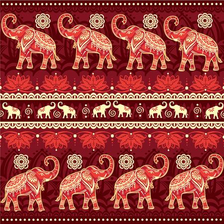 elephant: Seamless pattern with elephants