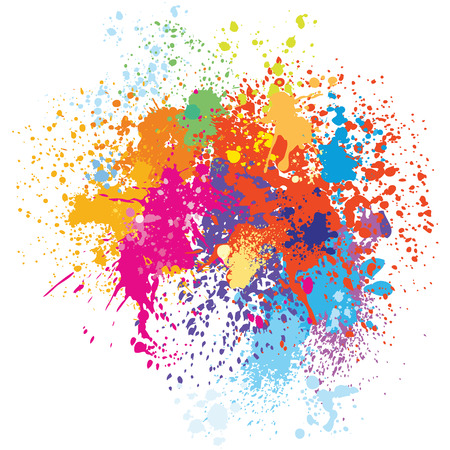 Colorful splash background Illustration