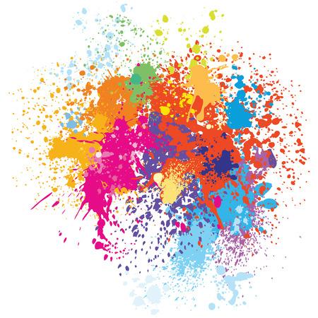 Colorful splash background Stock Illustratie