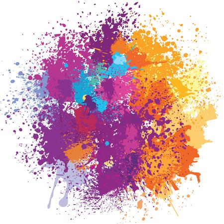 Achtergrond van de kleur van de verf spatten Stockfoto - 52177508