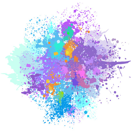 Color background of paint splashes 版權商用圖片 - 52181244